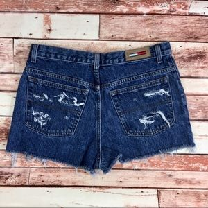 tommy   vintage high waisted distressed cut off